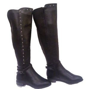 Rialto Ferrell Knee High Studded Riding Boots NWOT